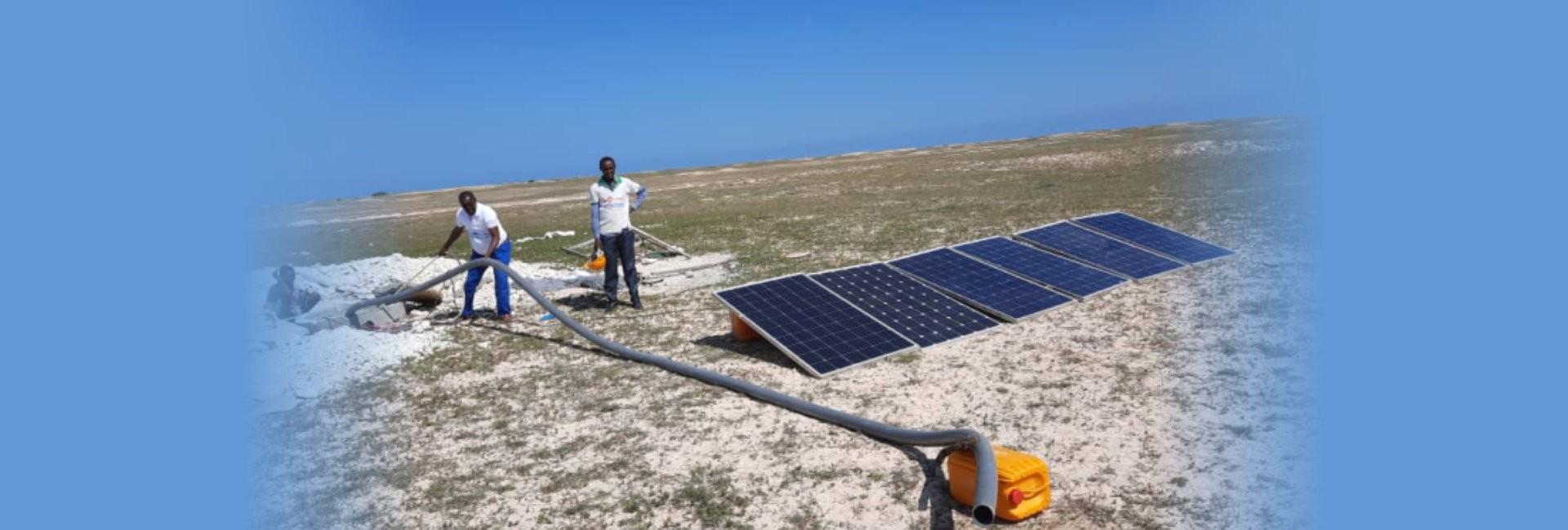 installing solar panel